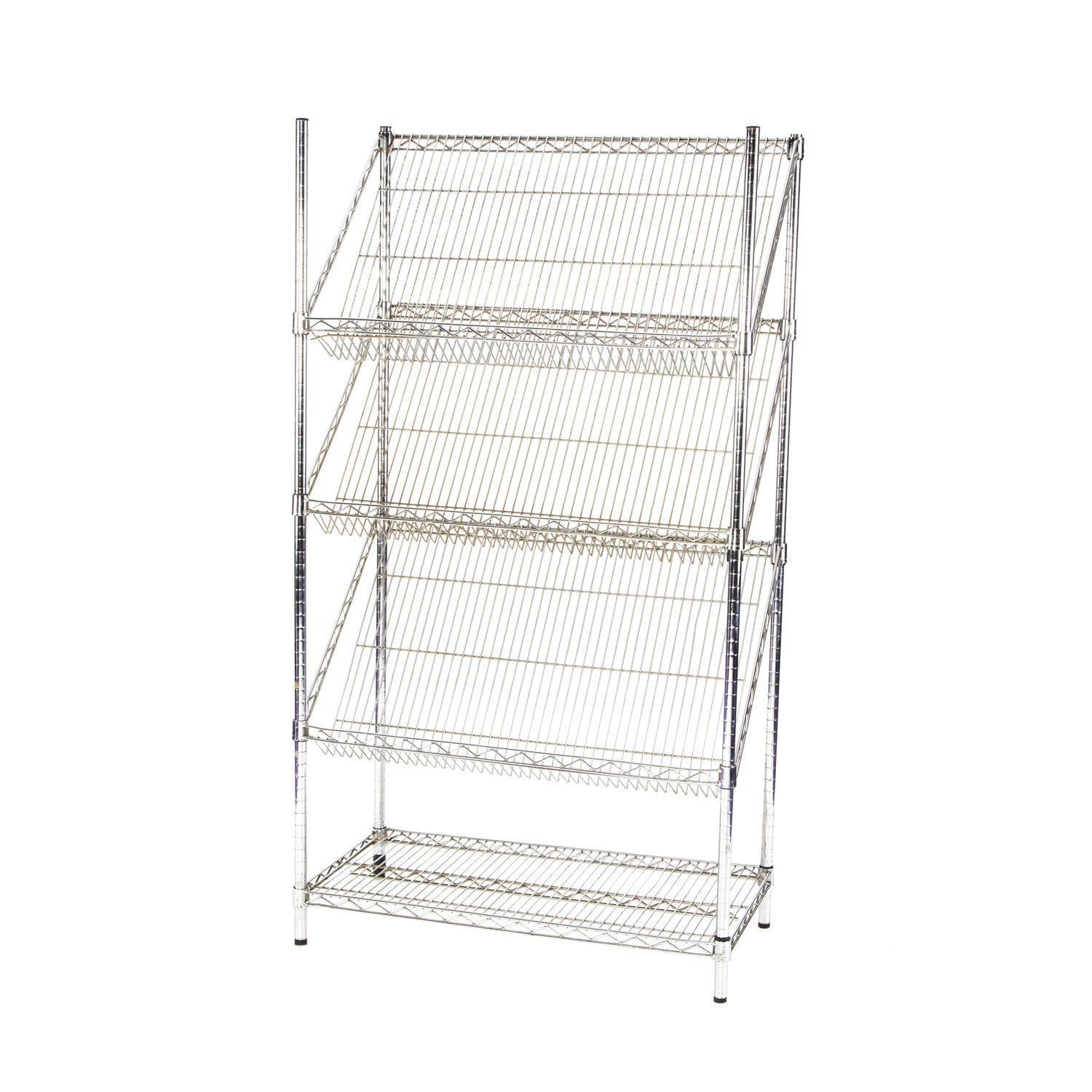 Large Chrome Literature Rack